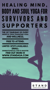 S.T.A.N.D. yoga poster